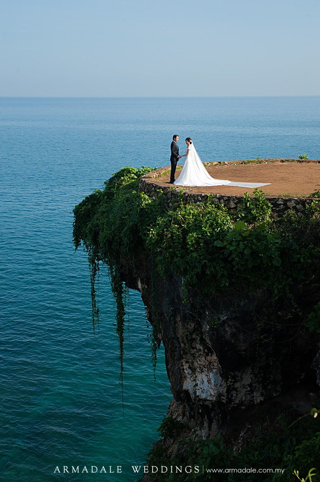 Cliff top bali prewedding