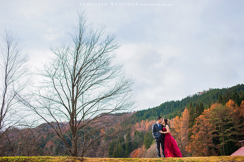 autumn prewedding in Japan