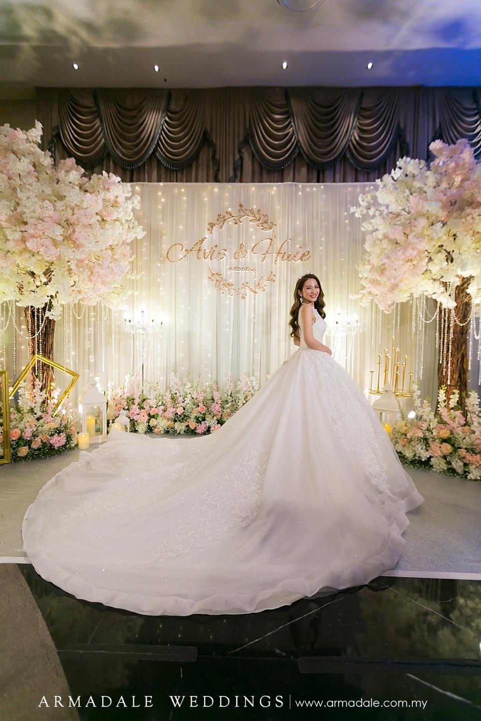 bridal ball gown