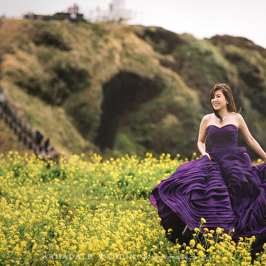 purple ruffled evening gowns