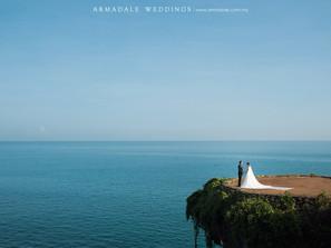 A cliff top prewedding in Bali | Germaine & Michael