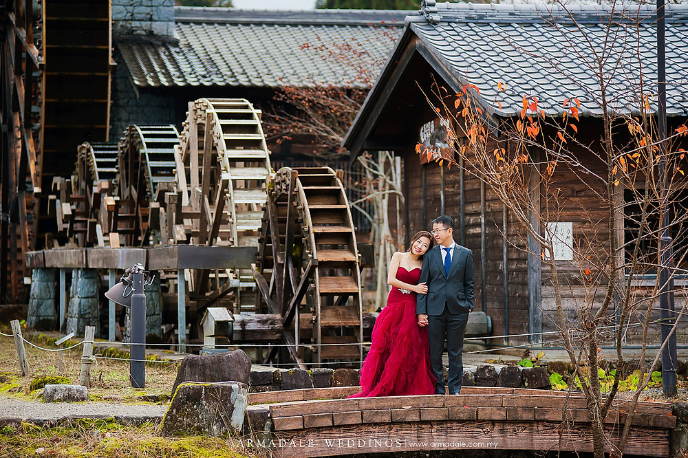 Japan prewedding shirakawago