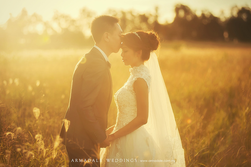 sunset prewedding australia