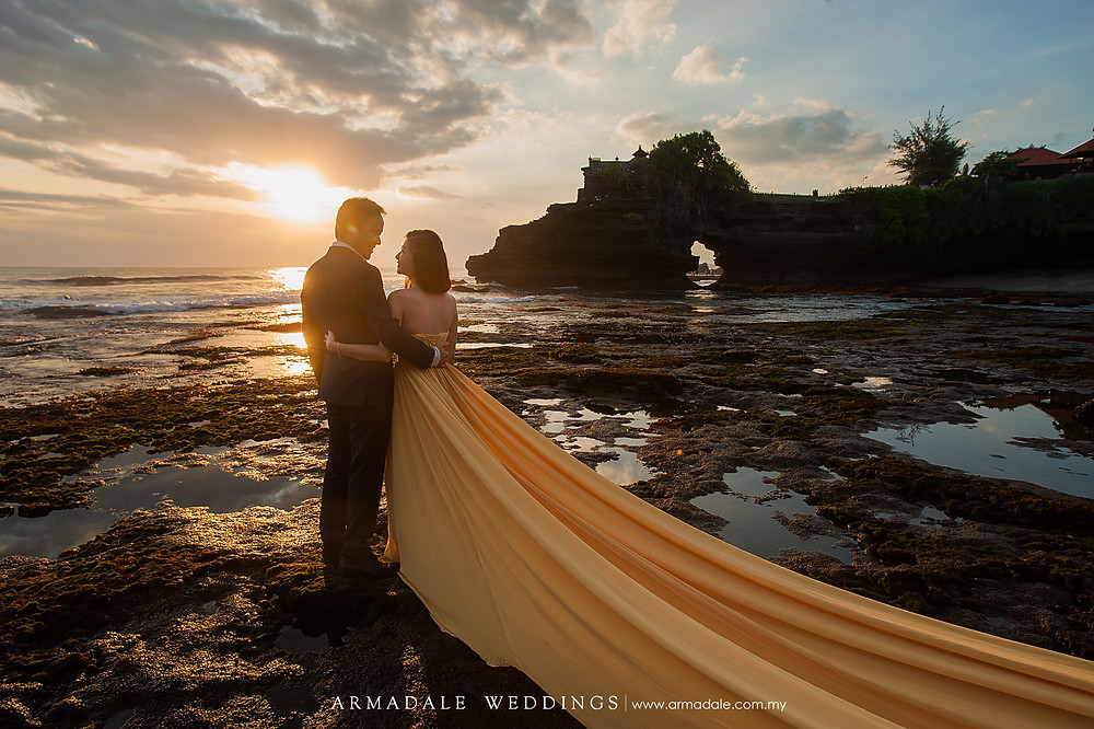 bali prewedding sunset