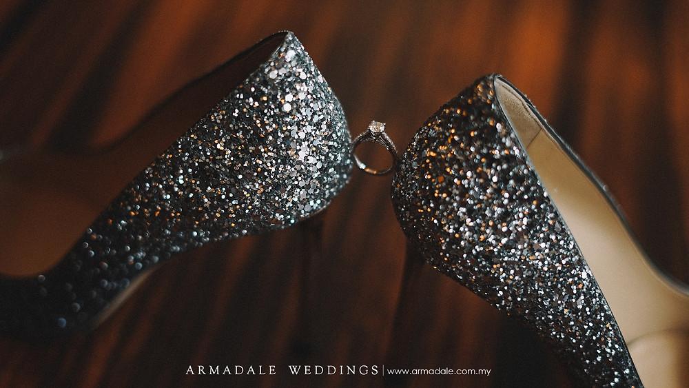 wedding shoes - wedding ring