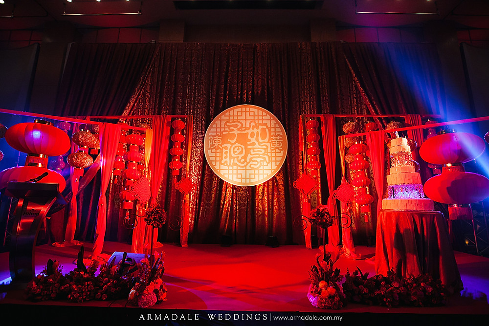 oriental theme wedding decoration