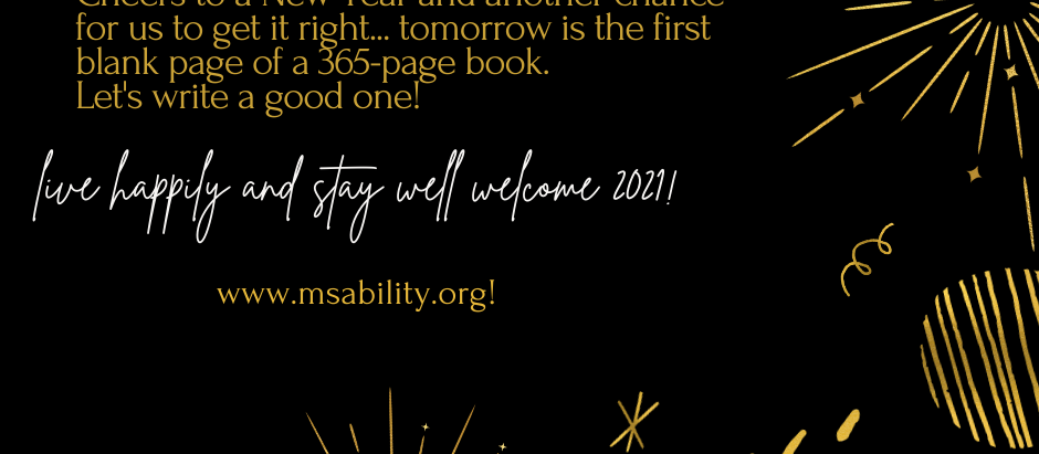 Live happily and stay well welcome 2021!