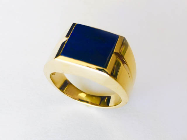 square blue ring