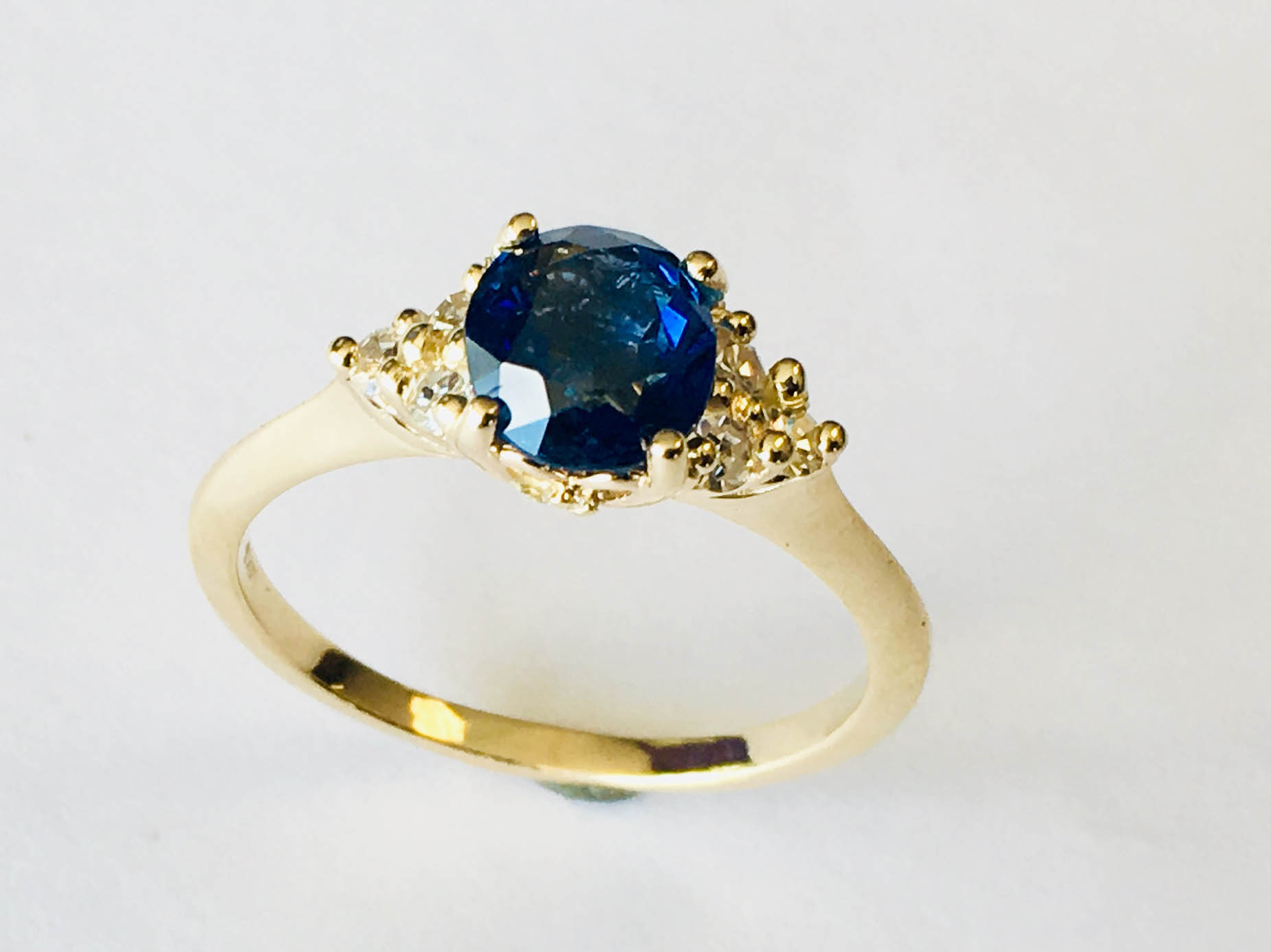 big blue stone ring