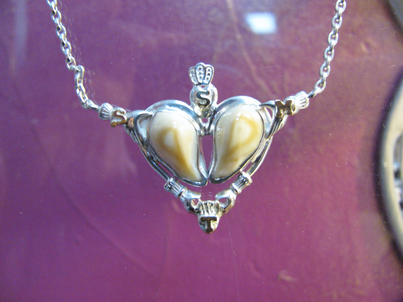 Elk Ivory Heart Pendant