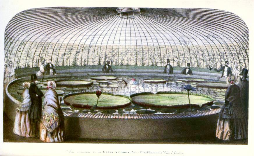 Aquarium Greenhouse dedicated to Queen Victoria, 1851