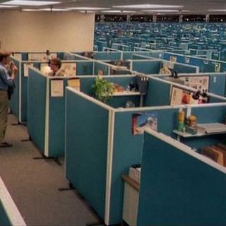 Dystopian cubicle farm