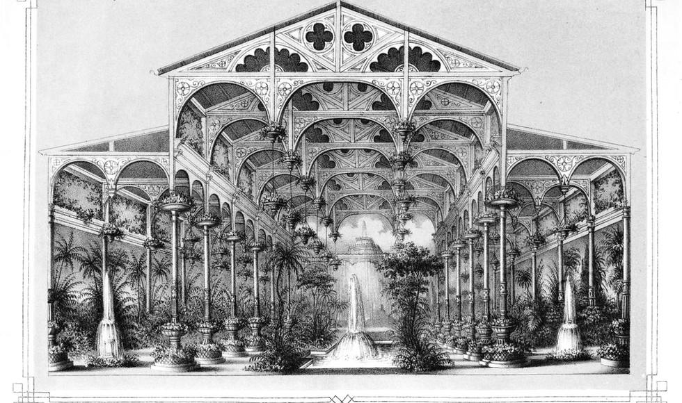Ducal winter garden in Biebrich on the Rhine, 1861
