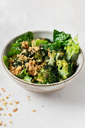 Crispy Broccoli Caesar Salad