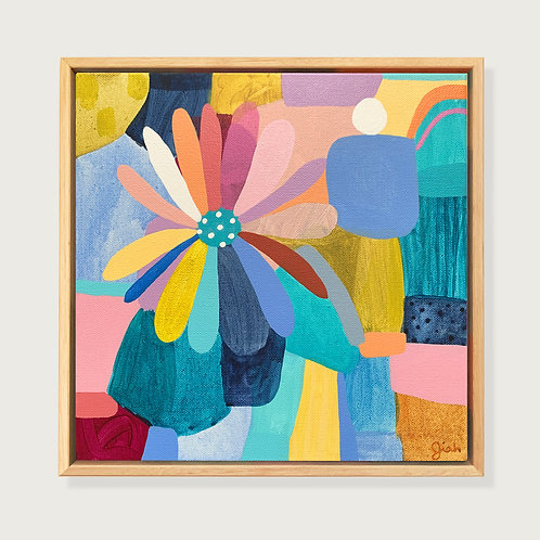 Little Rainbow Flower - Original painting