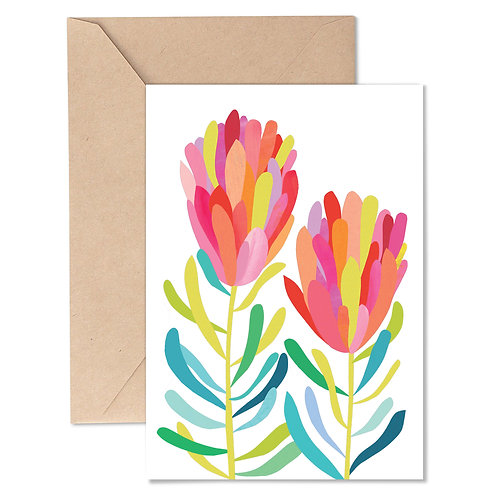 Greeting Card - Protea Pair