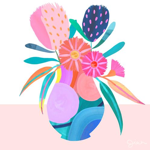 Botanical Vase - Fine Art Print