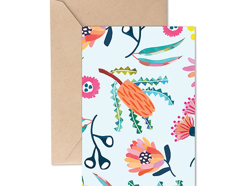 Greeting Card - Banksia Botanical