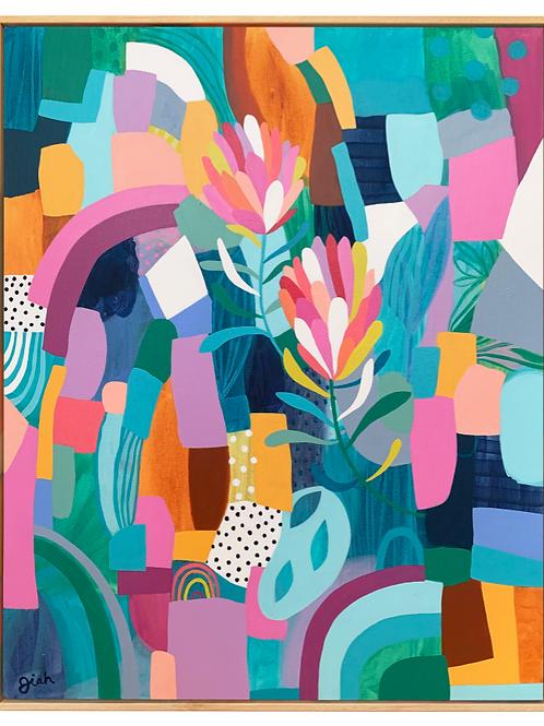 Protea Pair - Original painting