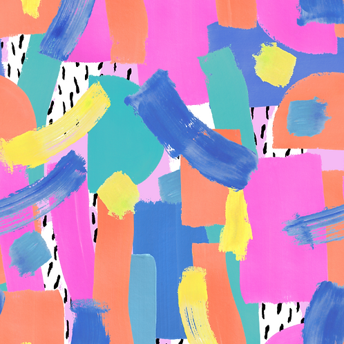 Painterly - Pink -  Non-exclusive license