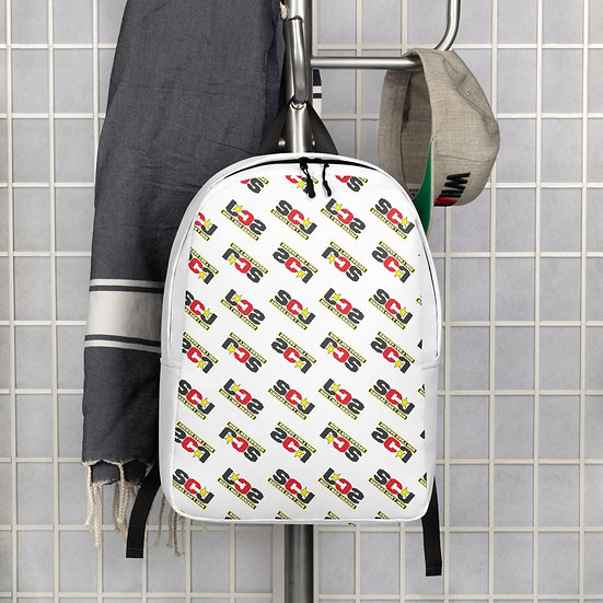 SCJ Print White Backpack