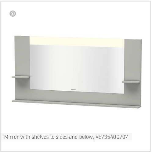Vero Mirror with shelves to sides and below 1600mmx 142mm