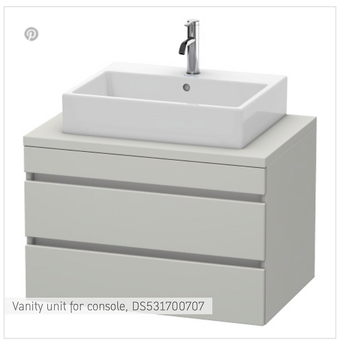 DuraStyle Vanity unit for console 800mm x 548mm