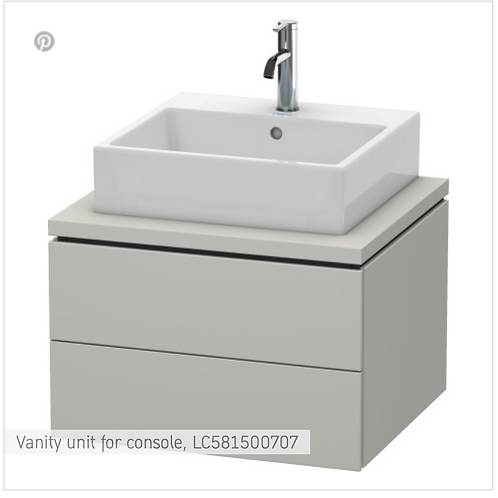 L-Cube Vanity unit for console 620mm x 547mm