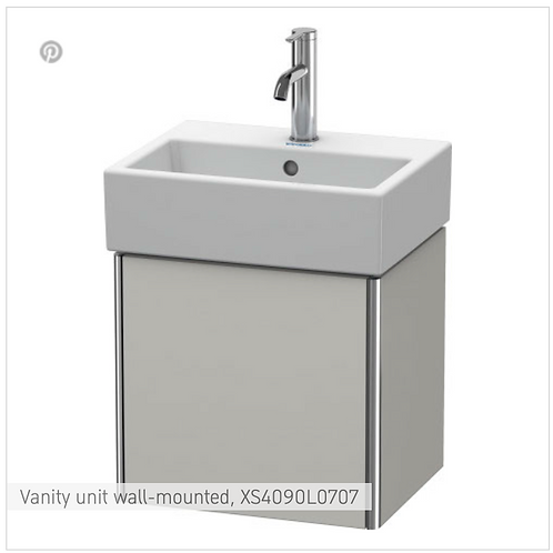 XSquare Vanity unit wall-mounted 434 x 340 mm