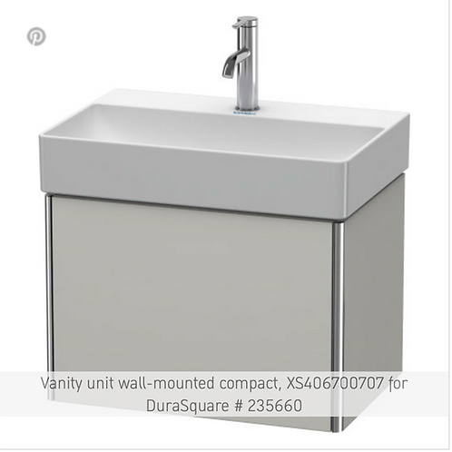 XSquare Vanity unit wall-mounted compact 584 x 390 mm