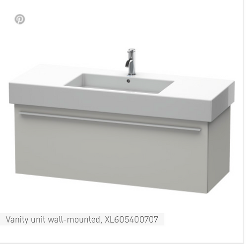 X-Large Vanity unit Wall Mounted 1200 x 468 mm