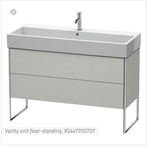 XSquare Vanity unit floor-standing 1184 x 460 mm