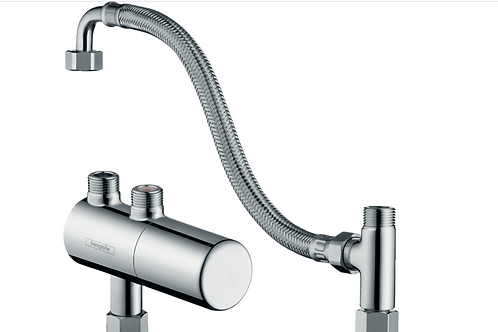 Hansgrohe Ecostat Under counter inline thermostat for exposed installation