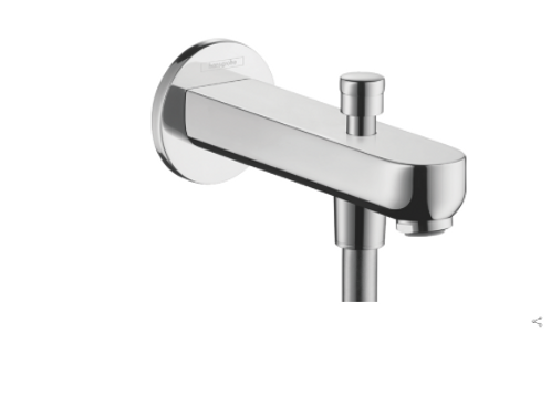 Hansgrohe Metris S Bath spout 15.2 cm with diverter valve