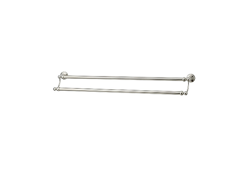 Perrin & Rowe  Traditional 800mm Double Towel Rail