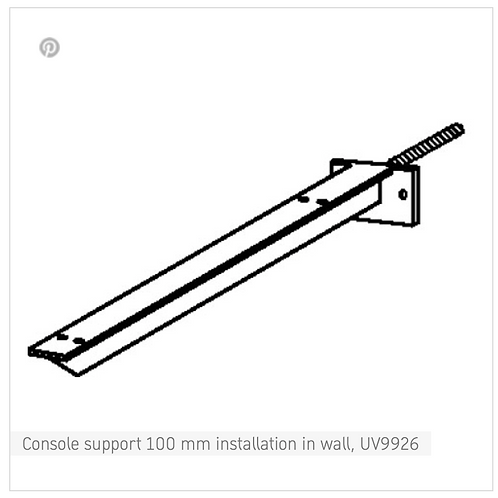Accessories Console support 100 mm installation in wall