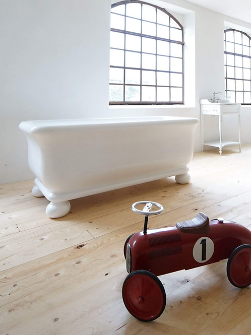 BC Designs Senator Solid Surface Bath 1804 x 850mm (Bun Feet)