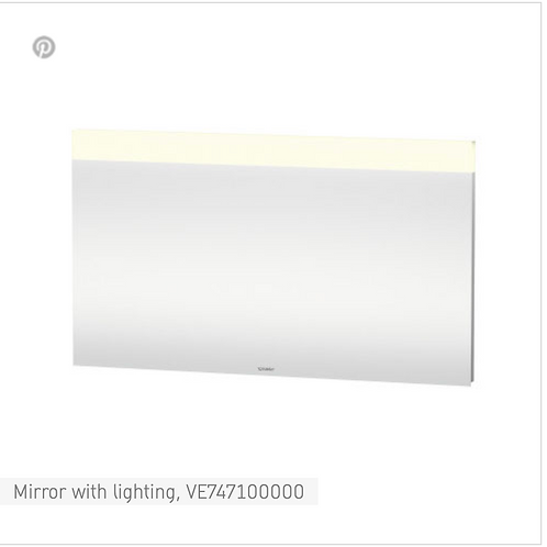 Vero Mirror with lighting 1400mm x 40mm