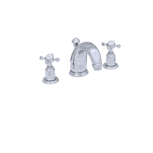 copy o Perrin & Rowe Traditional Three-Hole Basin Set with High Neck Spout and C