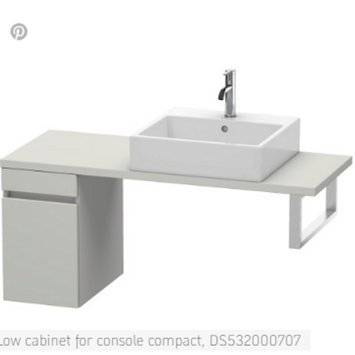 Duravit DuraStyle Low Cabinet For Console Compact 300mm x 478mm