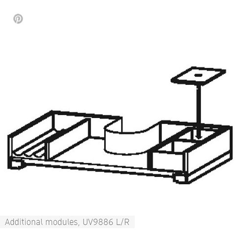 Duravit L-Cube Additional Modules for cabinet width 645mm