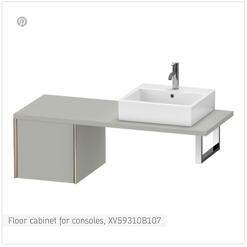 XViu Vanity unit for console 400mm x 548mm
