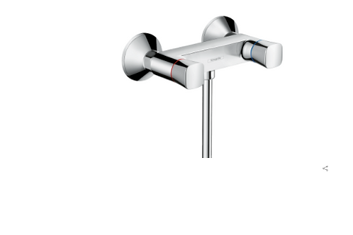 Hansgrohe Logis 2-handle manual shower mixer for exposed installation