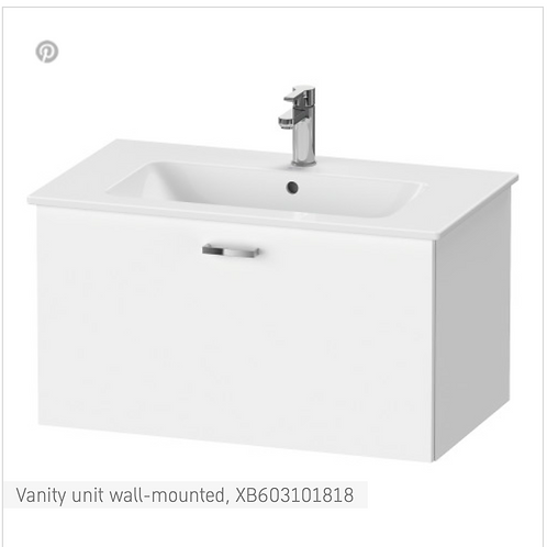 XBase Vanity unit wall-mounted 800 x 475 mm