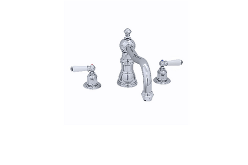 Perrin & Rowe Traditional Three-Hole Bath Mixer with Country Spout and Lever Han