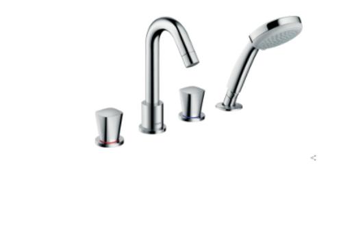 Hansgrohe Logis 4-hole rim-mounted bath mixer