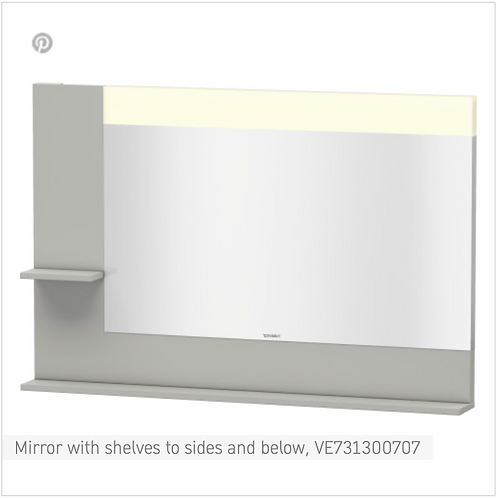 Vero Mirror with shelves to sides and below 1200mmx 142mm