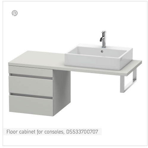 DuraStyle Floor cabinet for consoles 500mm x 548m