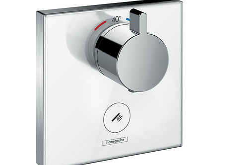 Hansgrohe ShowerSelect Glass Thermostatic mixer HighFlow for concealed installat
