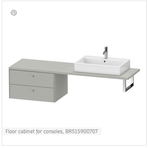 Brioso Vanity unit for console 720mm x 550mm